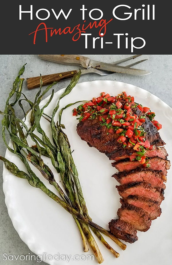Steak lovers rejoice! Grilled Tri-Tip Roast satisfies everyone from the